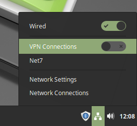 Activating the VPN on Linux Mint